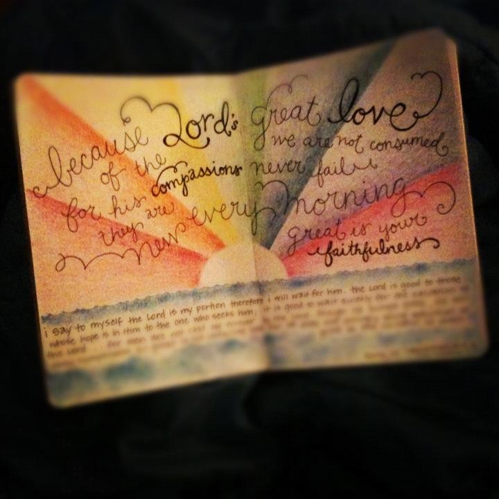 Rainbow Bible Journal Sketch