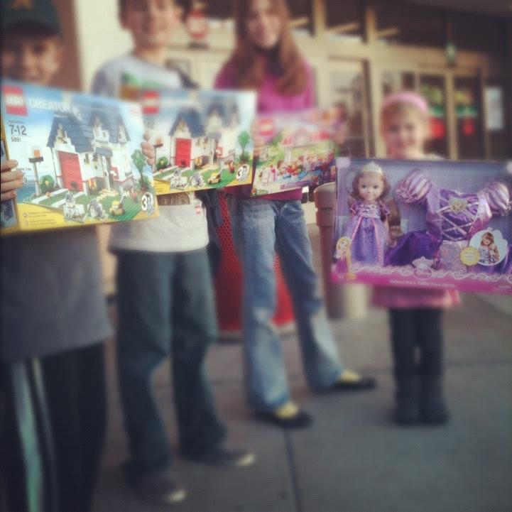 Kids Target Gift Card Shopping