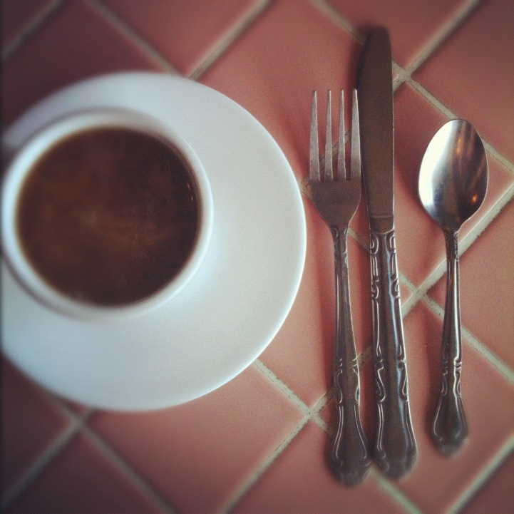coffee and silverware