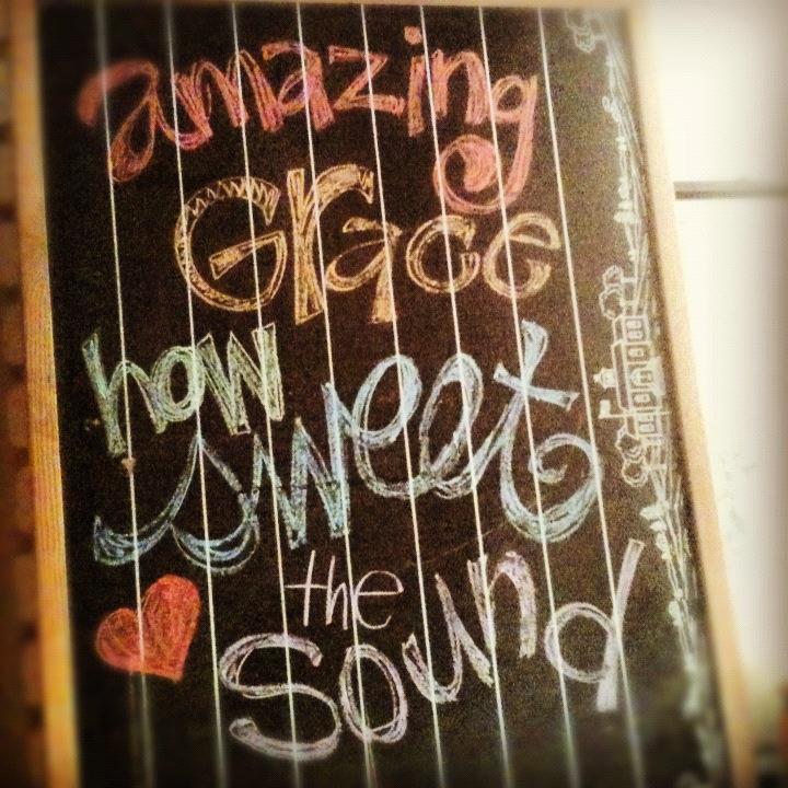 Amazing Grace Chalkboard