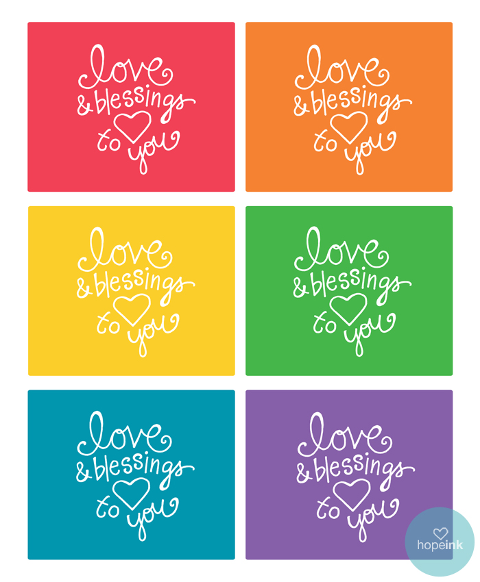 Printable Rainbow Blessing Notes
