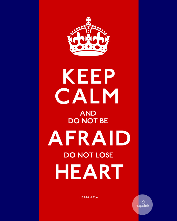 Keep Calm Red White Blue Election Poster