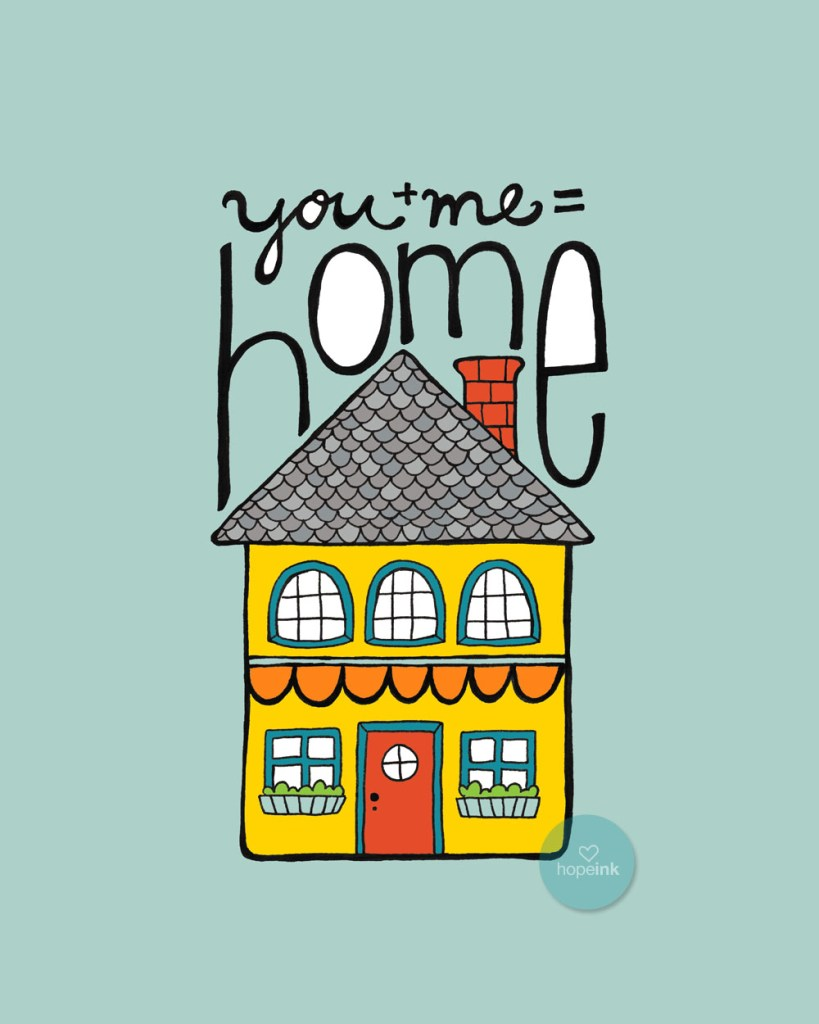 house illustration hope ink