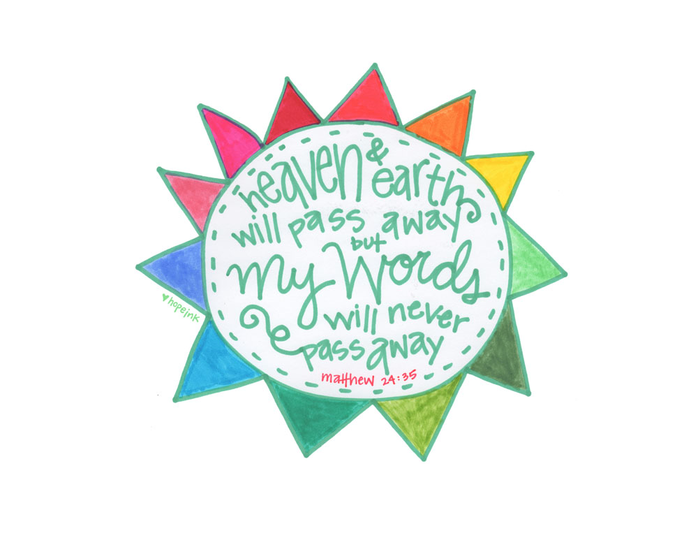 Heaven and Earth Sun Scripture Art