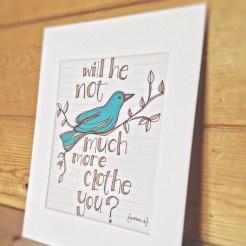 Scripture Art Bird Print