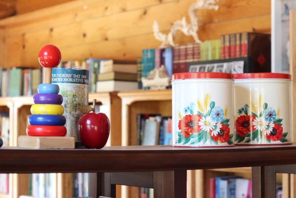 vintage floral canisters