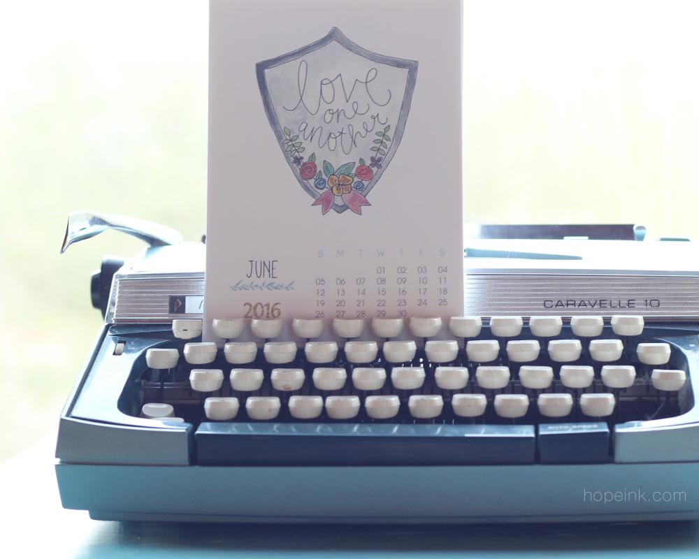 Printable Scripture Calendar vintage typewriter