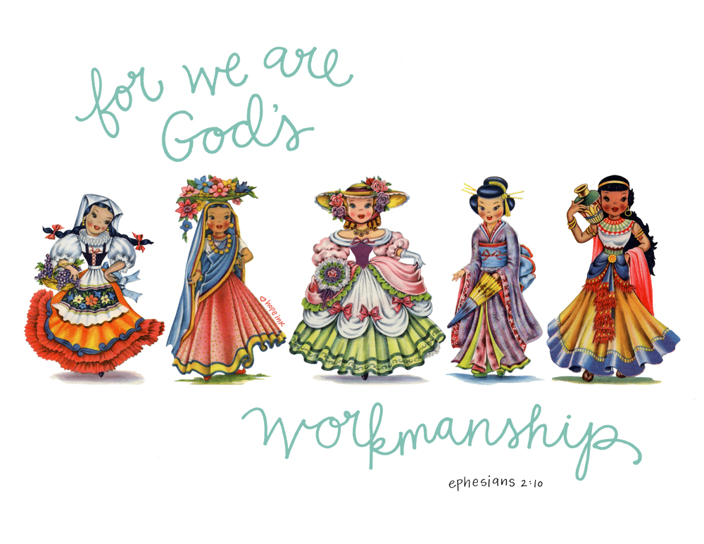 Dolls of The World Scripture Art Free Printable Hope Ink