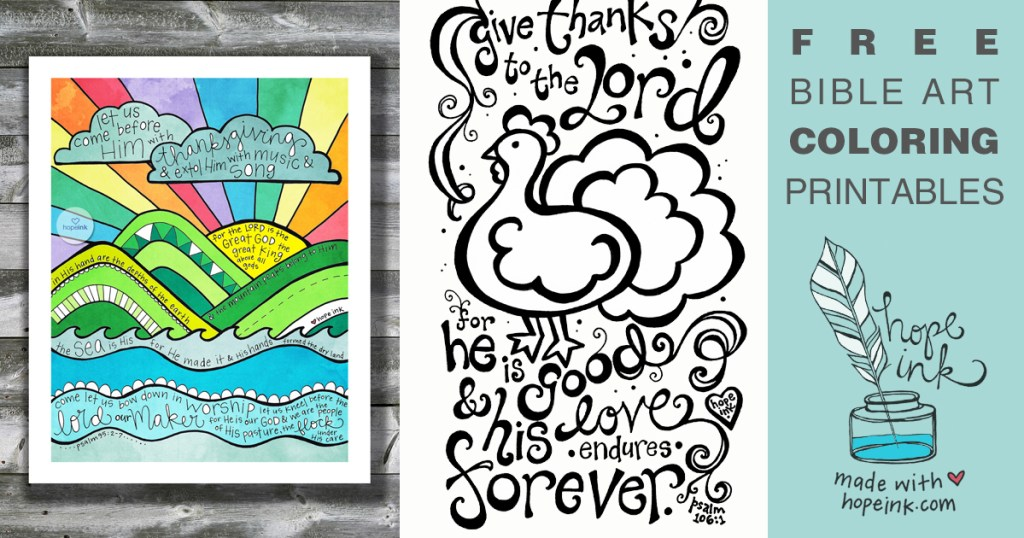free coloring printables bible art