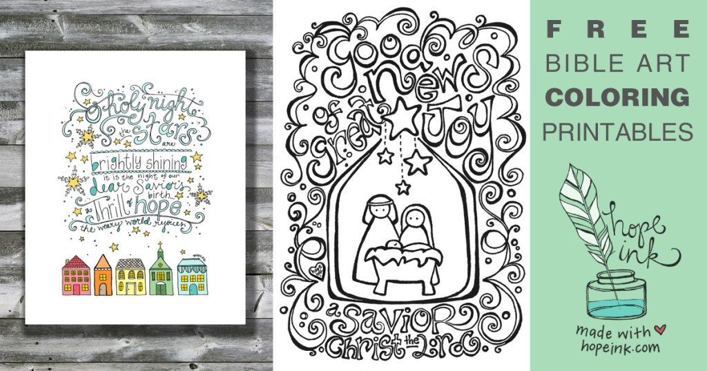 Free Christmas Coloring Printables Bible