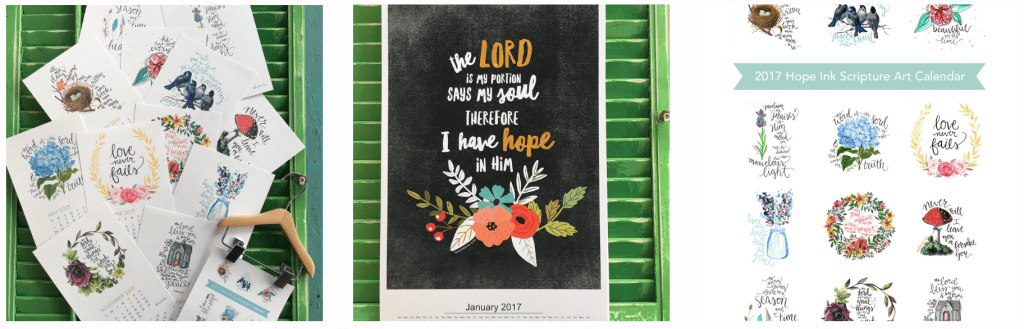 2017 Scripture Art Calendars Mini Hanger