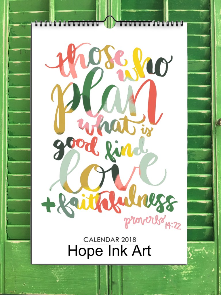 2018 Scripture Art Wall Calendar | Hope Ink