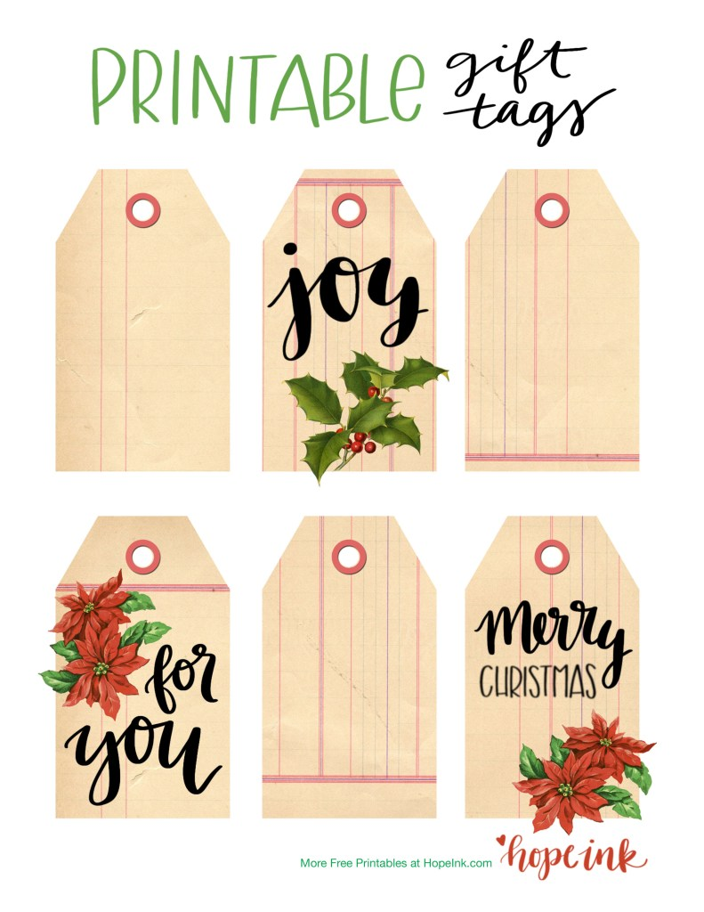 Free Printable Christmas Tags | Hope Ink