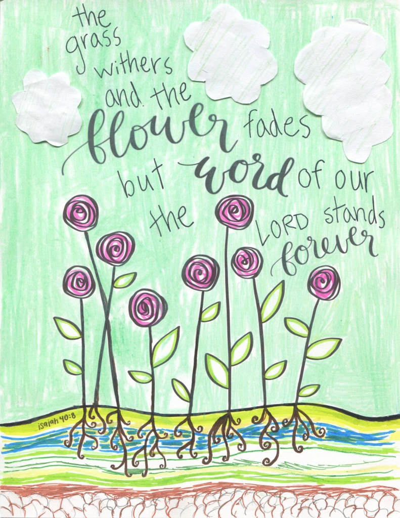 Scripture Art Flowers Printable Project For Kids