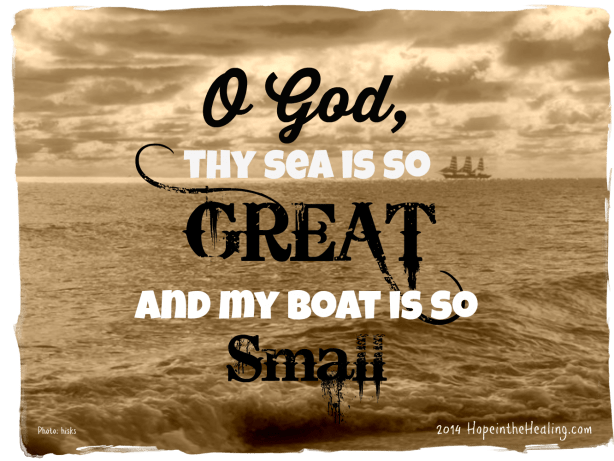 O God thy sea is so great