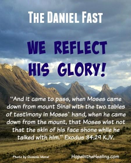 we reflect his glory