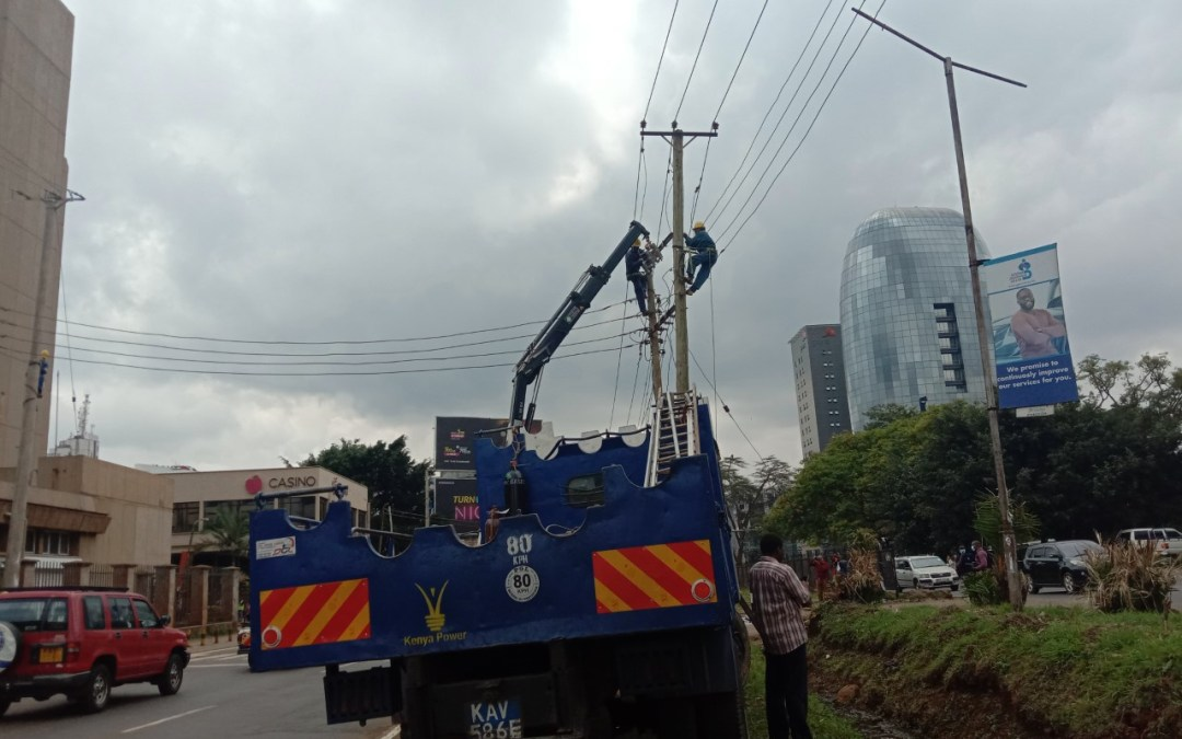 Kenya Power relocates power lines to pave way for the Nairobi Express Way