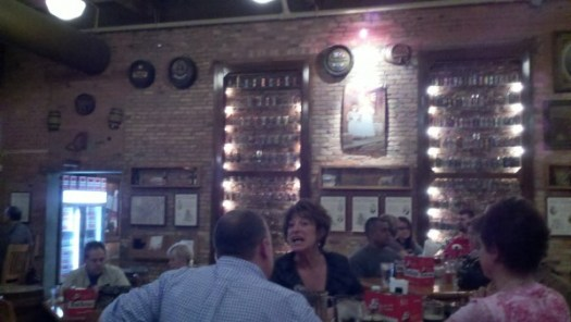 The main dining room of the Maumee Bay Brewing brewpub
