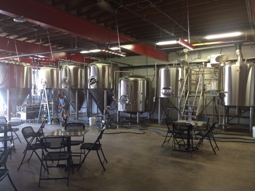 Old Firehouse Brewery brewhouse.