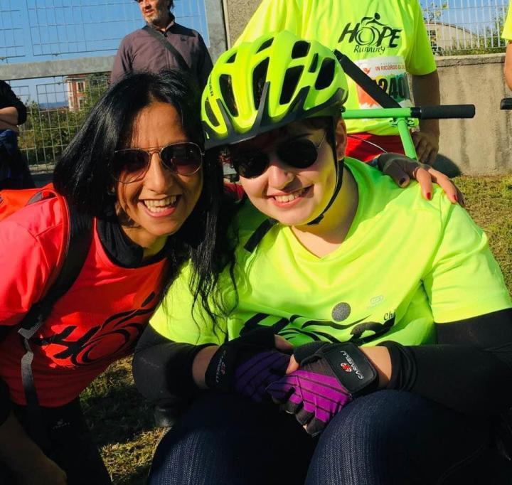 Oggi raccogliamo la testimonianza di Cinzia, una volontaria della Hope Running
