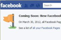 Facebook Timeline change warning