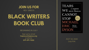 Join Us for Rev. Greg's Black Writers Book Club starting in July