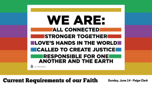 Sunday, June 14 - Current Requirements of Our Faith - Paige Clark