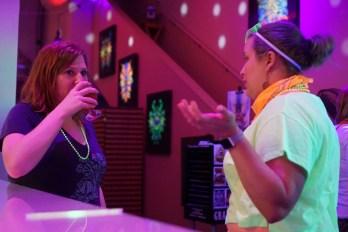 Rachel of Kilowatt speaking with Kristina of Hoplight Social