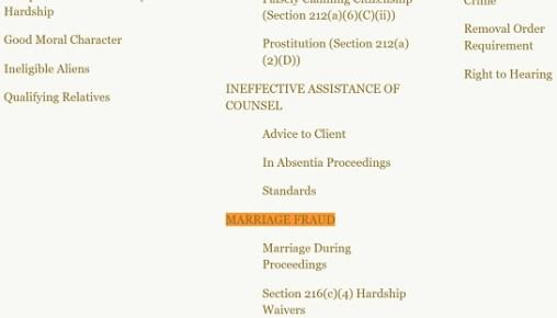 Marriage fraud