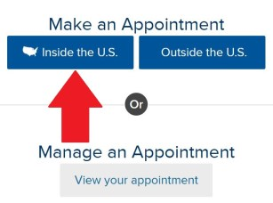 Make an appointment with USCIS
