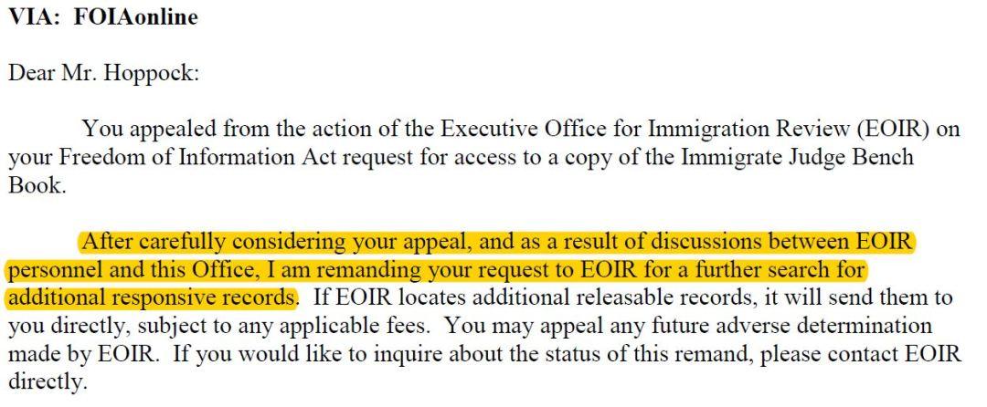 More Immigration Judge Benchbook Hijinks