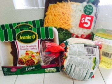 ground turkey, jennie-o, tacos, easy, healthy