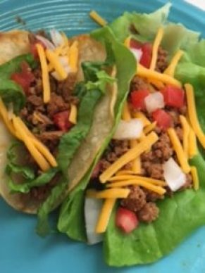Turkey tacos, Butter lettuce, Ground turkey