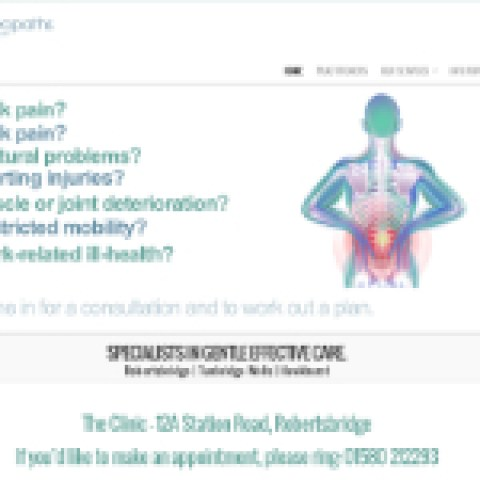 Website for Osteopath.