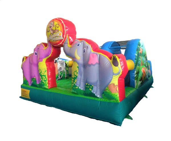 Hüpfburg Elefantensafari