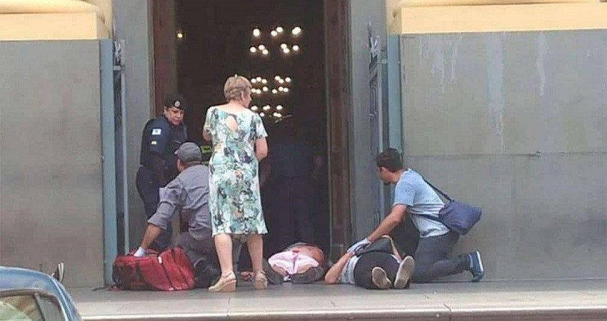 Tiroteo en una catedral de Brasil deja al menos cuatro personas muertas y varios heridos (Foto Twitter)