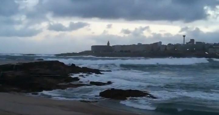 'Helena' deja en Galicia vientos huracanados de hasta 141 kilómetros por hora y cientos de rayos