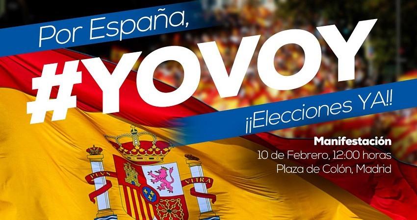 manifestacion pp ciudadanos y vox