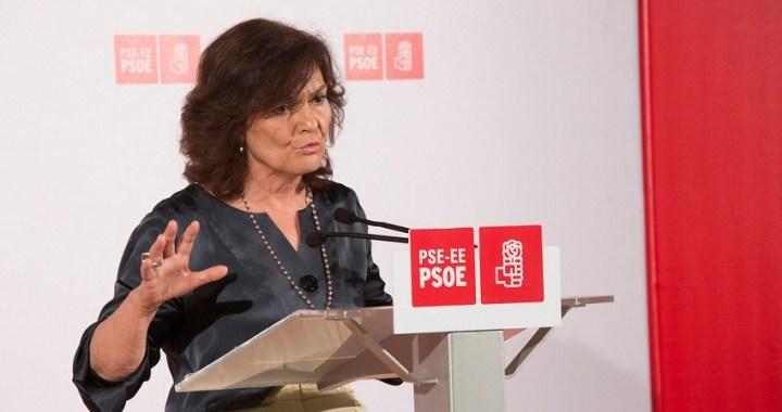 Carmen Calvo será la número dos del PSOE por Madrid