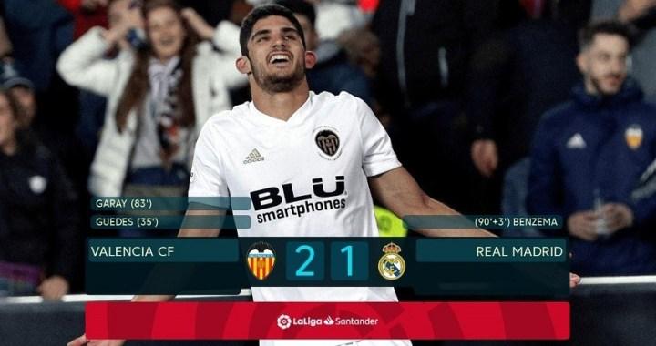 Valencia 2 Real Madrid 1: Zidane recibe la primera derrota desde su regreso
