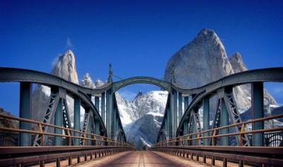 Argentina puente en la Patagonia