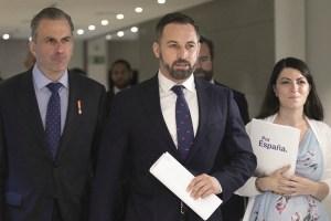Santiago Abascal: «En Murcia solo puede haber gobierno de izquierda si Ciudadanos vota con ellos»