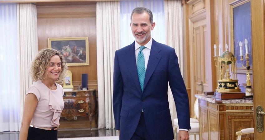 Felipe IV y Meritxell Batet