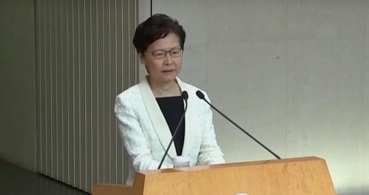 La líder de Hong Kong retira el proyecto de extradición que motivó las protestas durante 3 meses