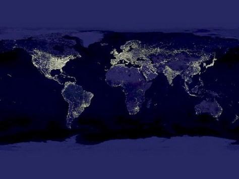 earth night map