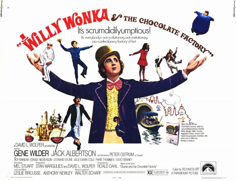 Image result for Willy Wonka And The Chocolate Factory poster