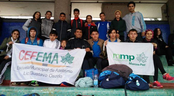 El atletismo de Marcos Paz brilla en el Cenard