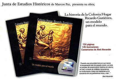 Se presentó el libro de la Colonia Gutiérrez, el legendario hogar de menores