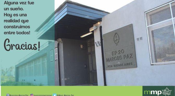 Ahora, los chicos que viven cerca del barrio de La Milagrosa, podrán asistir a la soñada escuela 20