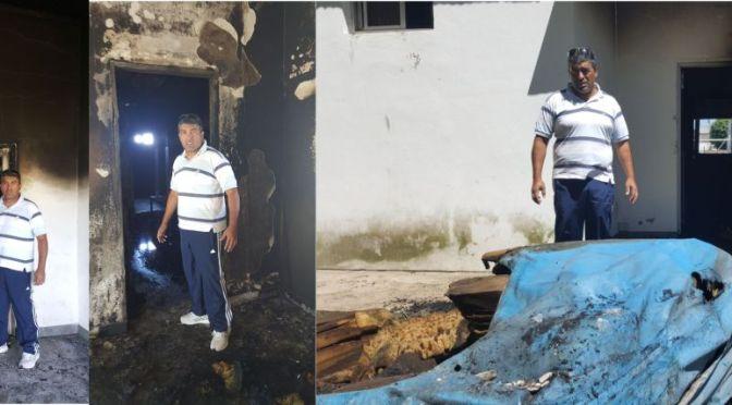 Incendian salvajemente la escuela de atletismo de Marcos Paz